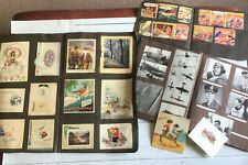 More details for vintage 1940s 1950s scrapbooks greetings cards, postcards, and  magazine scraps