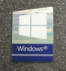 Windows 10 & Pro Original Hologram Laser Sticker 16.5mm x 22.5mm Color Changing