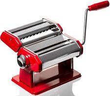 """Manual 6"""" Professional Grade Pasta,Spaghetti, Fettuccine, Linguine Maker Red"""