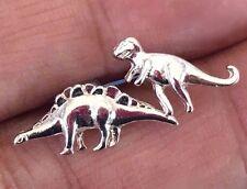Dinosaur T-Rex Stegosaurus Stud Earrings Firefly Serenity Wash