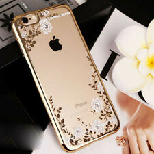 iPhone X 8 7 Plus Case Floral Diamond Shockproof Soft TPU Cover Protect Decor