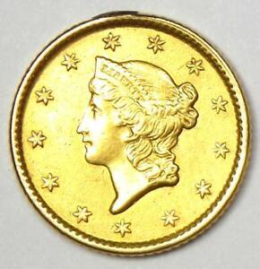 1853 Liberty Gold Dollar G$1 Coin - Choice AU Details - Rare Coin!