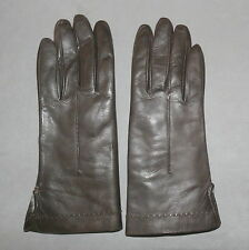 Women's Gloves Leather Extremely Soft Fur Rabbit Lined Brown 6.5