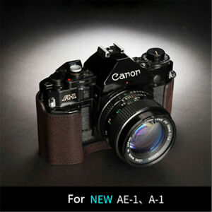 TP Handmade Canon AE1 A-1 AE-1P Camera Half Case Genuine Leather Retro Insert