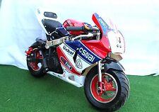 KXD Mini Moto Pocket Bike 50cc Limited Edition Red/White & Blue