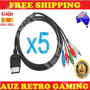 5x 1080p Component HD TV RCA AV Cable Cord Lead For Original Xbox