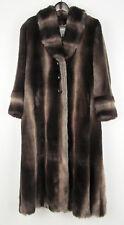 $2995.00 New St John Faux Sable Fur Full Length Coat US Women's 4 Made In USA