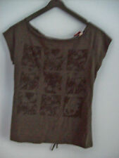 Top Ladies Divided by H & M Skulls & Numbers With Backbone Lacing EU Size 38