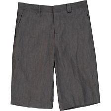 NEIL BARRETT Charcoal Grey Metallic Cotton Shorts XS W28 71cm BRAND NEW & TAGS