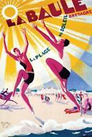 La Baule France Vintage Travel Art Print Mural Poster 36x54 inch