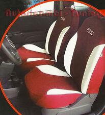 FODERE FODERINE COPRISEDILI AUTO BORDEAUX SU MISURA FIAT 500 2007> complete