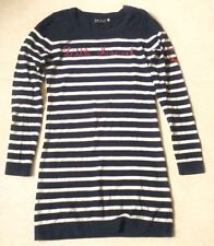 PULL ROBE RAYURES MARINE BLANC LITTLE MARCEL COTON T. XS 34 36 FEMME ENFANT