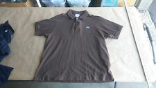 Lacoste Brown 100% Cotton Short Sleeve Polo Shirt Mens Sz M 5 Made In France