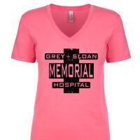 Grey Sloan Memorial Hospital Women's V-Neck T-Shirt Doctor Nurse Christmas Gift