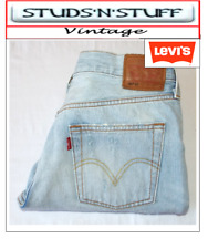 """VINTAGE LEVIS 501S STRAIGHT DISTRESSED JEANS  W32"""" L29"""" APROX SIZE UK  12 (T414)"""