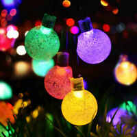 10/20/30/50 LED Solar Powered Retro Bulb String Lights Garden Outdoor Fairy Lamp