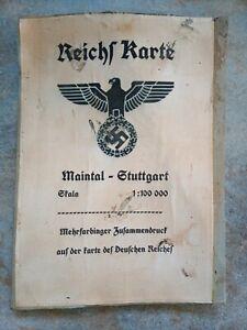 WW2 German Linen Map (Repro)
