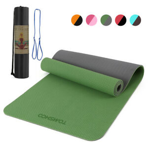 72''x24'' Yoga Mat Non-Slip Thick Exercise Fitness Pad Workout Training Pilates