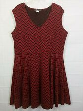 PINC Women's Red/Black V-Neck Sleeveless Stretch Midi Dress size 3X