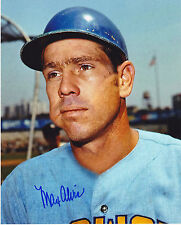 MAX ALVIS  MILWAUKEE BREWERS   ACTION SIGNED 8x10