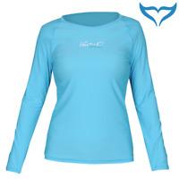 iQ UV 300 Shirt Loose Fit Damen XS S M L XL XXL turquoise türkis Longsleeve NEU