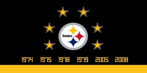 NFL Pittsburgh Steelers 6 Superbowl Championships Car Truck License Plate New