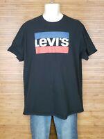 Levis Black Graphic Logo T-Shirt Mens Size XL