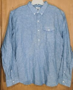 NWT OLD NAVY BRAND LT BLUE 100% COTTON CASUAL SHIRT- XL