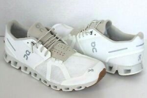 oN Men's Cloud 2.0  White/Sand Running Shoe US 9.5