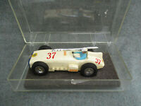VINTAGE 1960s TOY INDIANAPOLIS CLASSIC INDY 500 STYLE 1/32 SLOT CAR WHITE # 37