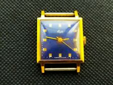 RARE LUCH SQUARE 2209 AU20 23 Jewels USSR Watch Soviet Vintage Ultra Slim Wrist