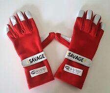 SAVAGE SFI 3.3/5 RACING 2 LAYER GLOVES  RED  LARGE