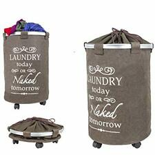 dbest products Laundry Trolley 360 Bag Hamper Basket Cart with Swivel Wheels ...
