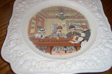 "Crown Ducal Pub Plate - ""What's Yourn Gents?""- 1932"