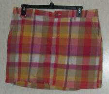 EXCELLENT WOMENS SONOMA PLAID SKORT  SIZE 16
