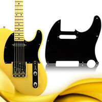3 Ply Tele Style Guitar Pick Guard Scratch Plate Fits Telecaster Guitar Black