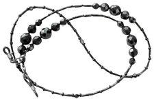 ✫ Blackout ✫ Artesanal Negra Con Cuentas recetadas gafas gafas gafas Cadena Titular