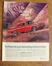 """1962 Pontiac Tempest Coupe Ad  The Gas-Saving """"4"""" with Pontiac Punch"""