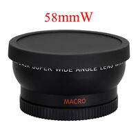 58mm 0.45x Wide Angle Lens Professional for Canon EOS 1100D 550D 600D 500D & Bag