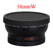 58mm 0.45x Wide Angle Lens Professional for Canon EOS 1100D 550D 600D 500D & Bag