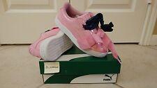 Puma Prism Pink Basket Heart Patent Sneaker 363352 03 Children Girl's SZ US 3C