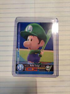 Mario sports Amiibo Card Unscanned Baseball Baby Luigi