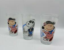 Gläser Glas Peanuts Snoopy Lucy Selten | Vintage | Kult | 3 Stück im Paket⭐️