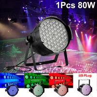80W RGB Beam LED Stage Par 54 Lights DMX DJ Disco Party Club Show Lighting