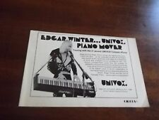 "1973 Vintage Promo Print Ad for Univox Compac-Piano Edgar Winter 8.25 X 5.5"""