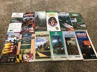 Vintage Road Maps Of States NJ PA GA CA NV WV MD FL Lot Of 12
