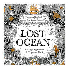 New  Lost Ocean An Inky Adventure&Coloring Painting Book Relaxing Stress BYAC07
