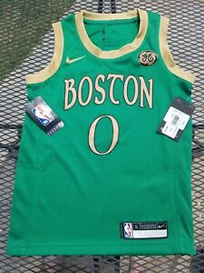 Rare NWT $85 Nike Jayson Tatum 2019 City Edition Boston Celtics Jersey Youth S 8