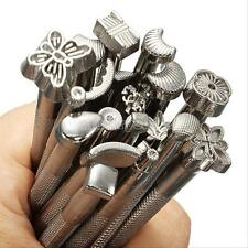 20pcs / Set Leather Working Saddle Making Tools Carving Leather Craft Stamps New
