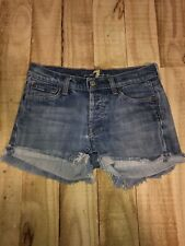 7 For All Mankind Women's Denim Shorts Size 25